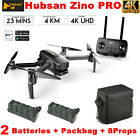 Hubsan Zino PRO 5G Drone 4K Camera APP FPV Quadcopter w/ 3 Gimbal+Bag+3Battery
