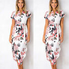 Fashion Women Floral Long Maxi Dress Evening Party Beach Dresses Summer Sundress