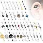 316L Surgical Steel Industrial Bar Scaffold Ear Barbell Ring PIERCING JEWELRY  image