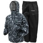 Frogg Toggs All Sport Rain Suit Mossy Oak Black Tip Elements CHOOSE YOUR SIZE!