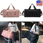 Women Nylon Gym Sports Shoulder Handbag Luggage Duffel Pack Travel Yoga Bag Tote
