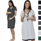 HAPPY MAMA Women's Maternity Nursing Hospital Gown Buttoned Nightshirt 559