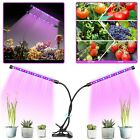 PLANT GROW LIGHT Dimmable Dual Head LED Lights Indoor Flower Plants Growing Lamp. Buy it now for 19.45