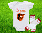 Baltimore Orioles Outfit Onesie And Leggings Set Watching With Grandpa on Ebay