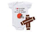 Cleveland Browns Outfit Onesie And Leggings Set Watching With Mommy on eBay