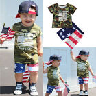 Baby Clothes Summer National Flag Camouflage Shirt Short Pants Kids Boys Outfits