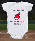 Cleveland Indians Onesie Bodysuit Shirt Love Watching Indians WIth My Uncle on Ebay