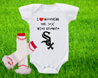 Chicago White Sox Outfit Onesie And Ruffle Leggings Set Watching WIth Grandpa on Ebay