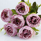 Roses Artificial Flower Fake Peonies Silk Small Bouquet Home Wedding Party Decor
