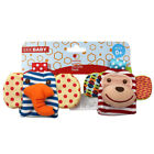 Soft Toy Animal Baby Infant Kids Hand Wrist Bells Foot Sock Rattles