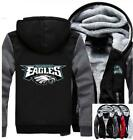 Winter Thicken Hoodie Team Philadelphia Eagles Warm Sweatshirt Lacer Zipper@USL $39.88 USD on eBay
