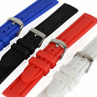 20/22/24mm Silicone Rubber Wrist Watch Band Strap for Sport Watch Mens Womens image
