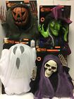 Hanging Halloween Prop Witch Ghost Skeleton Pumpkin Lights Sounds 6' Decoration