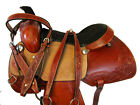 CUSTOM MADE PLEASURE TRAIL HORSE ROPING 15 16 17 RANCH WORKING LEATHER SADDLE