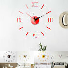 US Fashion DIY Large 3D Number Mirror Wall Stickers Watch Home Decor Art Clock
