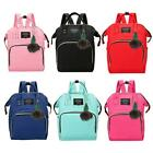 Mummy Maternity Nappy Diaper Baby Care Bag Large Capacity Travel Backpack W/ball
