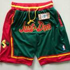 Men's NWT Stitched Pants Seattle Supersonics Vintage Basketball Game Shorts NBA on eBay
