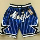 Orlando Magic Vintage Basketball Game Shorts NBA Men's NWT Stitched Pants Blue