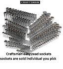 Kyпить Craftsman Easy Read Socket 1/4 3/8 1/2 Drive 6 & 12pt MM & SAE Deep or Standard на еВаy.соm
