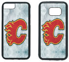 CALGARY FLAMES PHONE CASE COVER FITS iPHONE 7 8+ XS MAX SAMSUNG S10 S9 S8 S7 S6 $13.5 USD on eBay