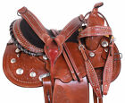 Cute Blingy Silver Western Trail Barrel Racing Saddles Horse Tack 15 16 17 18