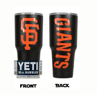 (YETI) San Francisco Giants (Powder Coated 30 oz) Powder Coat NO VINYL on Ebay