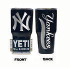 (YETI) New York Yankees (Laser Engraved 30 oz)Powder Coat NO VINYL on Ebay