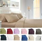 Egyptian Comfort 1800 Series 4 Piece Bed Sheet Set Deep Pocket Bed Sheets image