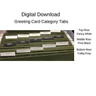 Stampin Up Paper Cardstock Tool Greeting Card Organizer, Card Category Tabs