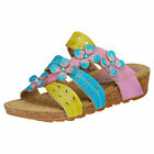Laura Vita Bourges 80 Lilas Womens Pink Multicolour Leather Casual Sandals