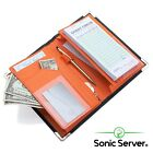 Sonic Server 5x8 Double Magnetic Pocket Server Book Organizer Waiter Waitress <br/> Double Expandable Magnetic Pockets! Cool Inner Colors!