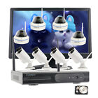 Business Home CCTV 1080P Wireless Security Camera System with Hard Drive Monitor