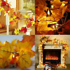 40 Led Fall Maple Leaf Fairy String Lights Autumn Leaf Lamps Garland Wedding Uk