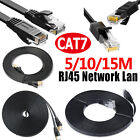 CAT7 CAT6 Ethernet Network LAN RJ45 Cable Flat Cord Patch For PC Laptop Router