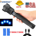 Kyпить 200000LM xhp70 Tactical Led Flashlight Rechargeable Zoomable Torch 18650 26650 на еВаy.соm