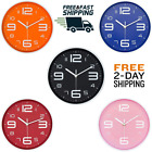 10 Inch Modern Wall Clock Face Dial 3D Number Silent NonTicking Round Home Decor