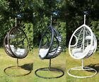 Swing Hanging Egg Chair with Cushion Patio Garden Outdoor PE Rattan Furniture
