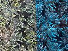 FLORAL Flower Bouquet Leaf Large Quilt Cotton Fabric CHOICE BATIK OOP BY 1/2 YD for sale  Shipping to Canada