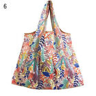 Women Recyclable Reusable Shopping Bags Print Cartoon Flower Foldable Tote Bag