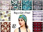 VulgrCo Women Men Turban HeadBand Boho Wrap Headband Elastic Bandeau Hair Band