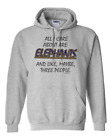 Gildan Hoodie Pullover Sweatshirt All Care About Are Elephants Maybe 3 People