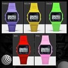 Men Women Outdoor Digital Electronic Watches High Class Soft PVC Strap ND image