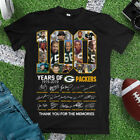 100 YEARS OF GREEN BAY PACKERS, THANK FOR THE MEMORIES UNISEX BLACK SHIRT