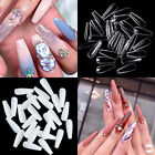 600X Natural White Clear False French Full Acrylic for UV Gel Nail Tips Tool