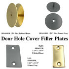 Warwick Door Knob, Lock or Latch Hole Cover Filler Plate, Brass or Prime Coat