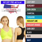 Women's Padded Seamless Sports Bra Stretch Tank Top Racerback Fast Ship from USA