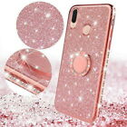 For Xiaomi 6 Redmi Note 7 6 Pro K20 Finger Ring Stand Bling Glitter Rubber Case $3.69 USD on eBay