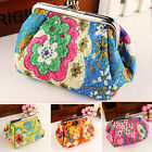 Womens Small Change Coin Purse Floral Mini Wallet Money Card Key Storage Handbag image