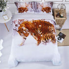 HIG 3 Piece 3D Duvet Cover Set Wildlife Animals and Scenery Floral Print Beddin