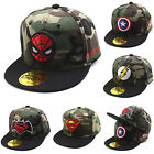 Toddler Kids Baseball Cap Boys Girl Superhero Camo Hat Snapback Flat Peaked Hats
